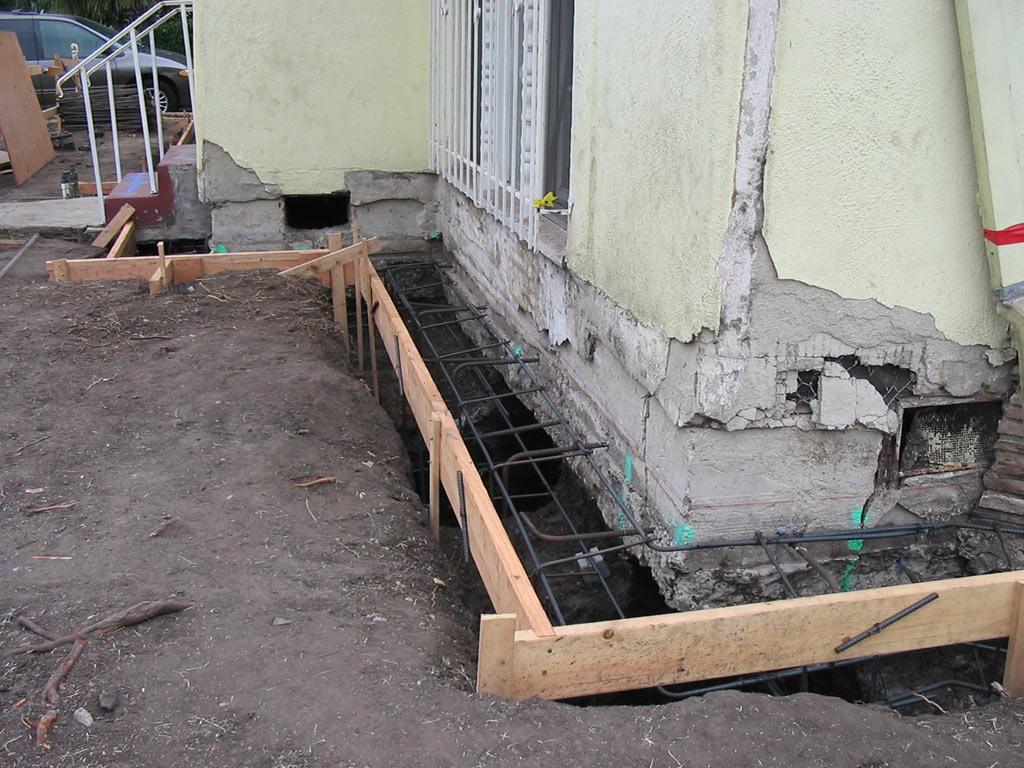 Foundation Underpinning Repair Retaining Wall